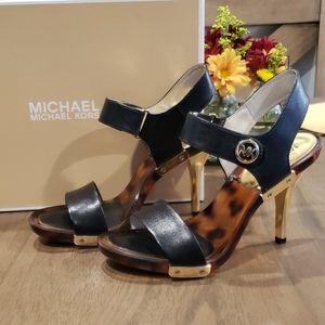 Michael Kors high heel sandles w/ black straps